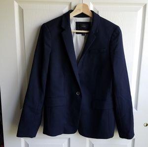 J Crew Navy Blue Regent Blazer Jacket Size 8 Read